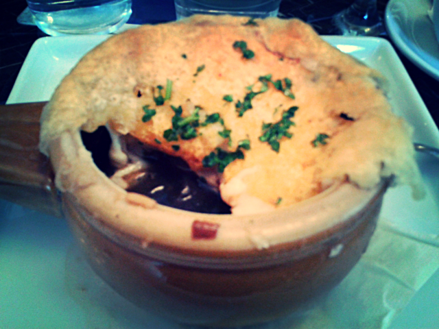 French onion soup is so comforting!